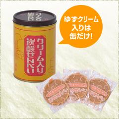 クリーム入り炭酸せんべい 缶